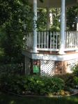 Garden tour- gazebo and hosta bed