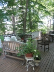 Garden tour- view of deck seating area
